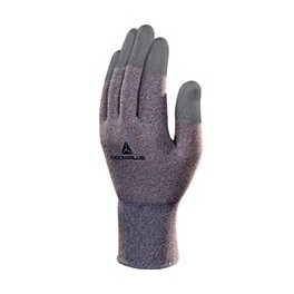 ANTISTATIC COPPER/POLYAMIDE KNITTED GLOVE - PU COATING ON FINGERTIPS